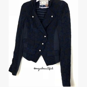 Free People Embroidered Blazer